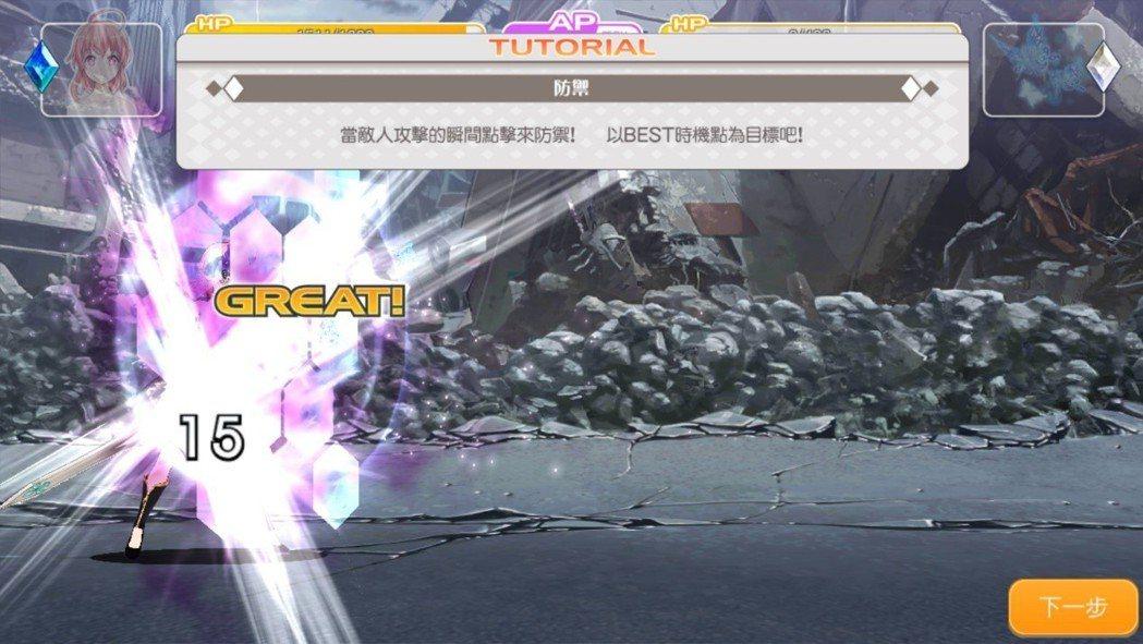 檔下敵人的攻擊後,將能壓低大量的傷害,可說是非常有趣的系統。