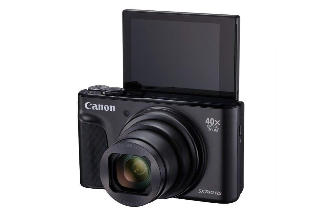 PowerShot SX740HS_上掀式螢幕配合4K攝影利於影音創作。 台灣佳...