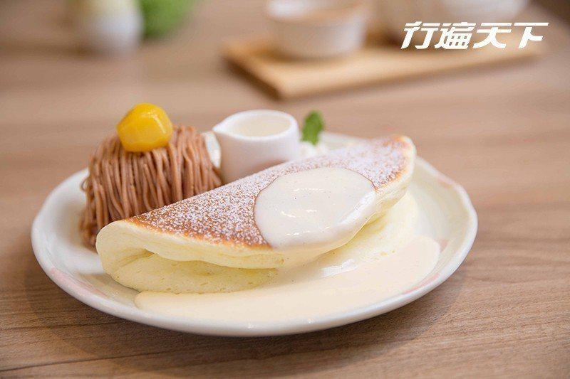 蒙布朗冰淇淋鬆餅|改良經典法式甜點「蒙布朗(MontBlanc)」,選用台灣栗子...