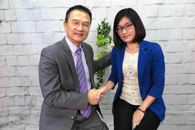理財周刊發行人洪寶山(左)、郭莉芳(右)