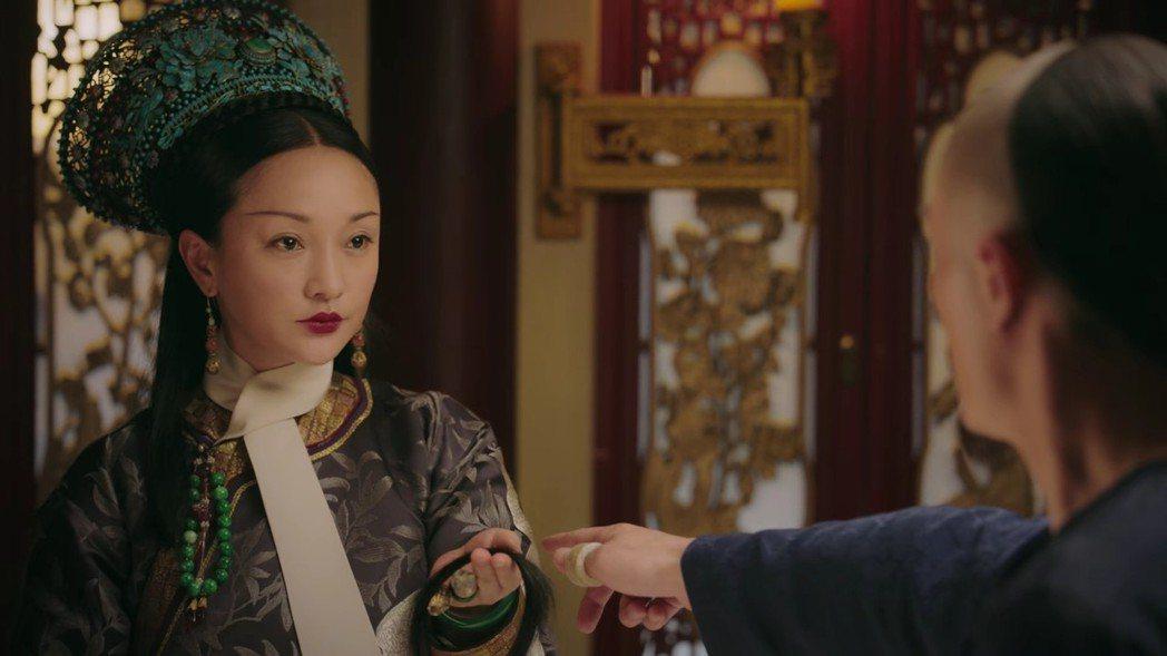 周迅飾演的「如懿」終於斷髮。圖/截圖自愛奇藝台灣站