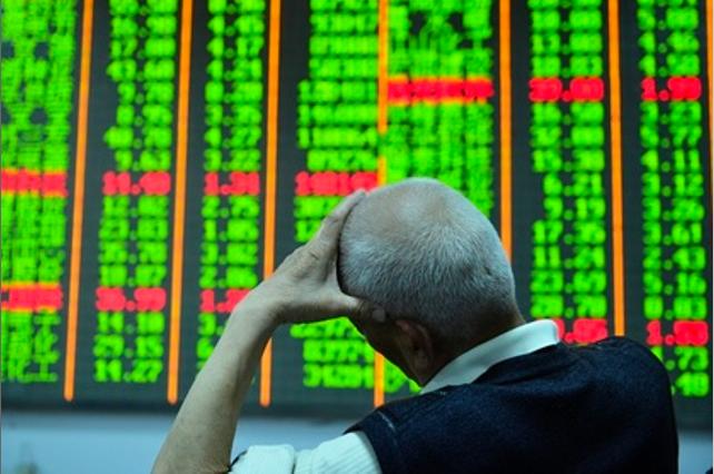 中國大陸股市今天上午大跌。(香港信報財經網)