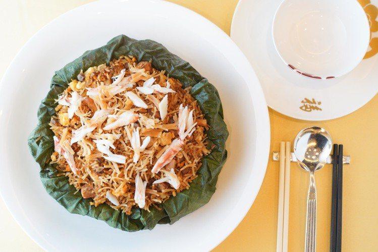 福臨門的經典菜「荷葉飯」。圖/香港旅遊發展局提供
