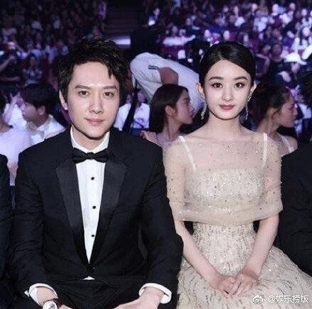 馮紹峰(左)與趙麗穎(右)被傳奉子成婚。圖/摘自微博