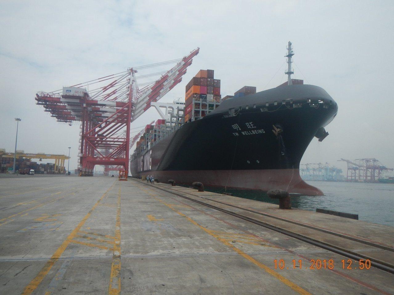 陽明海運公司旗下新租造船1.4萬TEU(20呎標準貨櫃單位)級貨櫃輪-巴拿馬籍「...