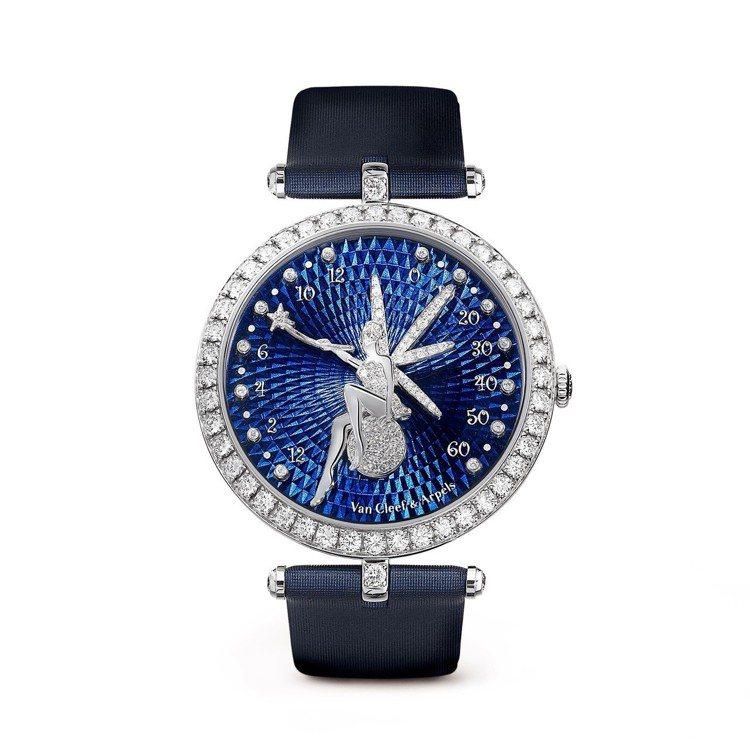 梵克雅寶Lady Arpels Féerie 腕表,38 毫米白 K 金鑲鑽表...