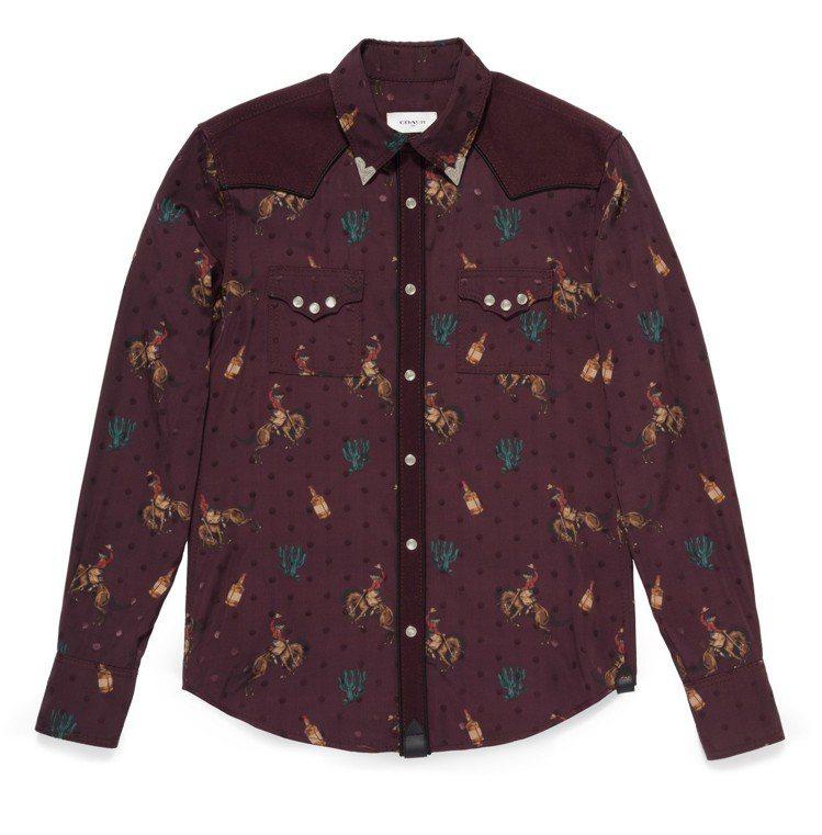 西部風格襯衫,售價10,800元。圖/COACH提供