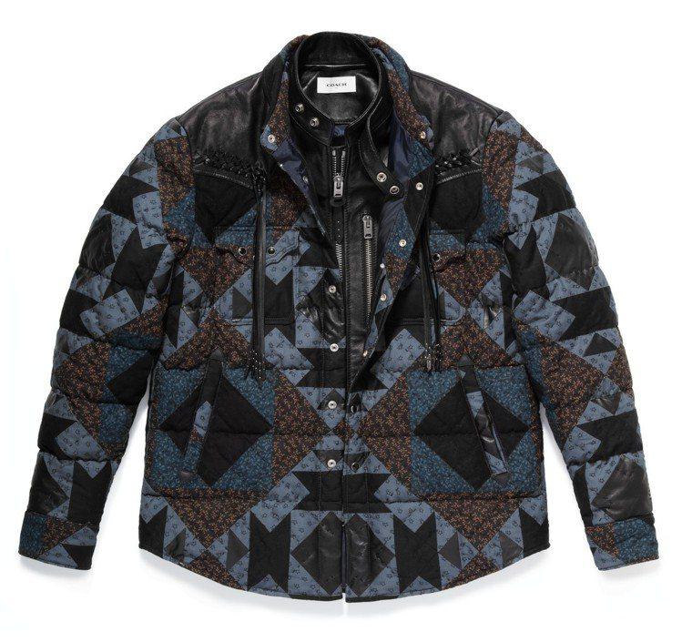 絎縫拼接襯衫,售價35,800元。圖/COACH提供