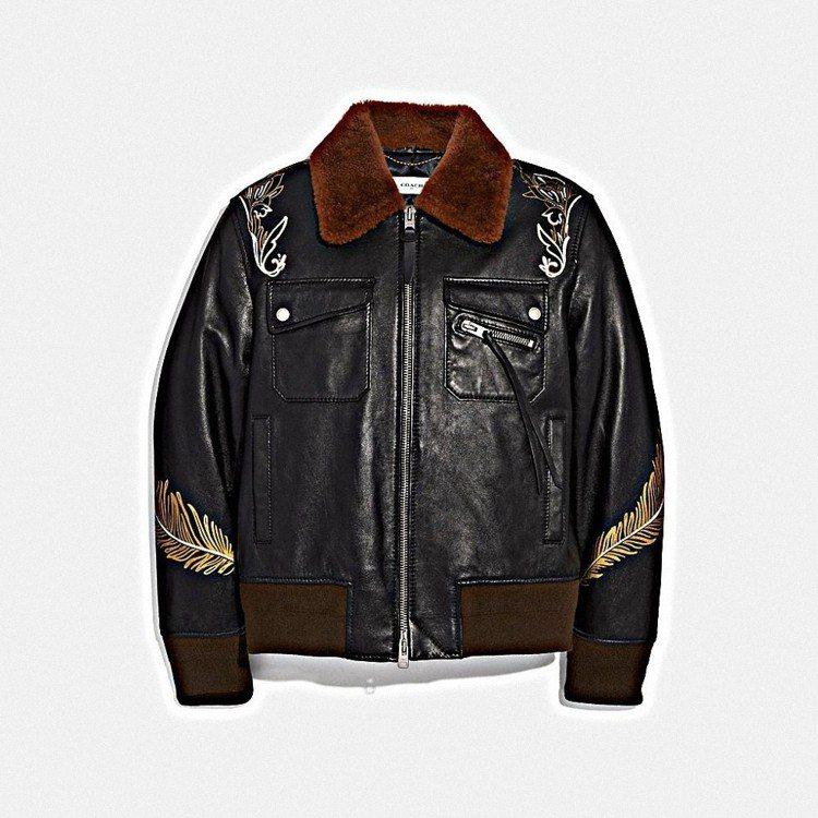 西部風格夾克,售價82,800元。圖/COACH提供