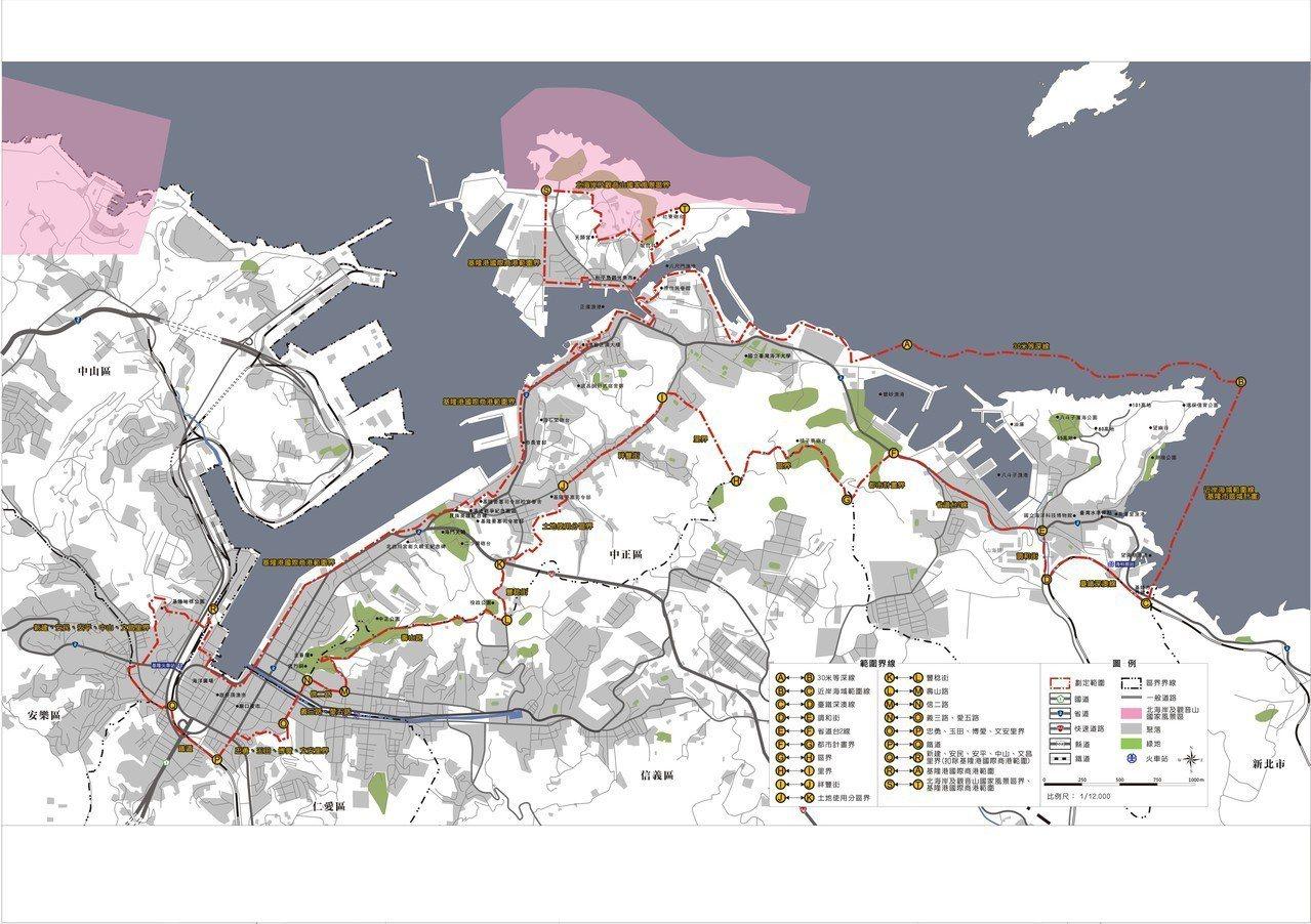 基隆市可以申請民宿的範圍,從基隆地標、包括基隆港西岸的KEELUNG地標、海洋廣...
