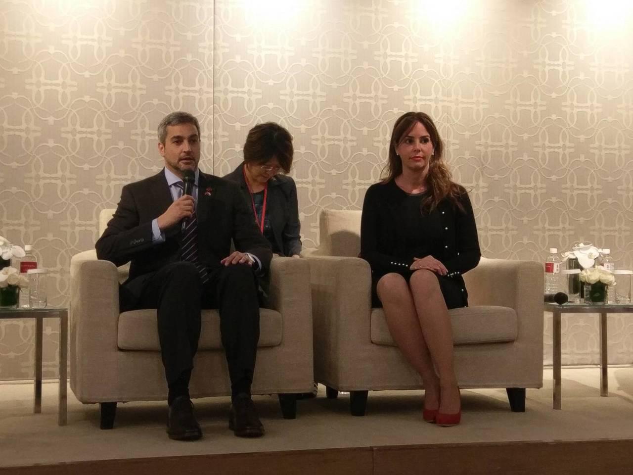 巴拉圭總統阿布鐸(左)及第一夫人席凡娜。記者徐偉真/攝影