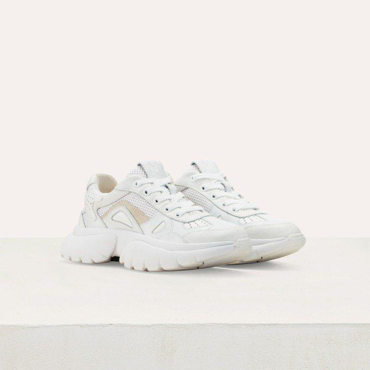 maje W20白色球鞋,售價11,360元。圖/maje提供