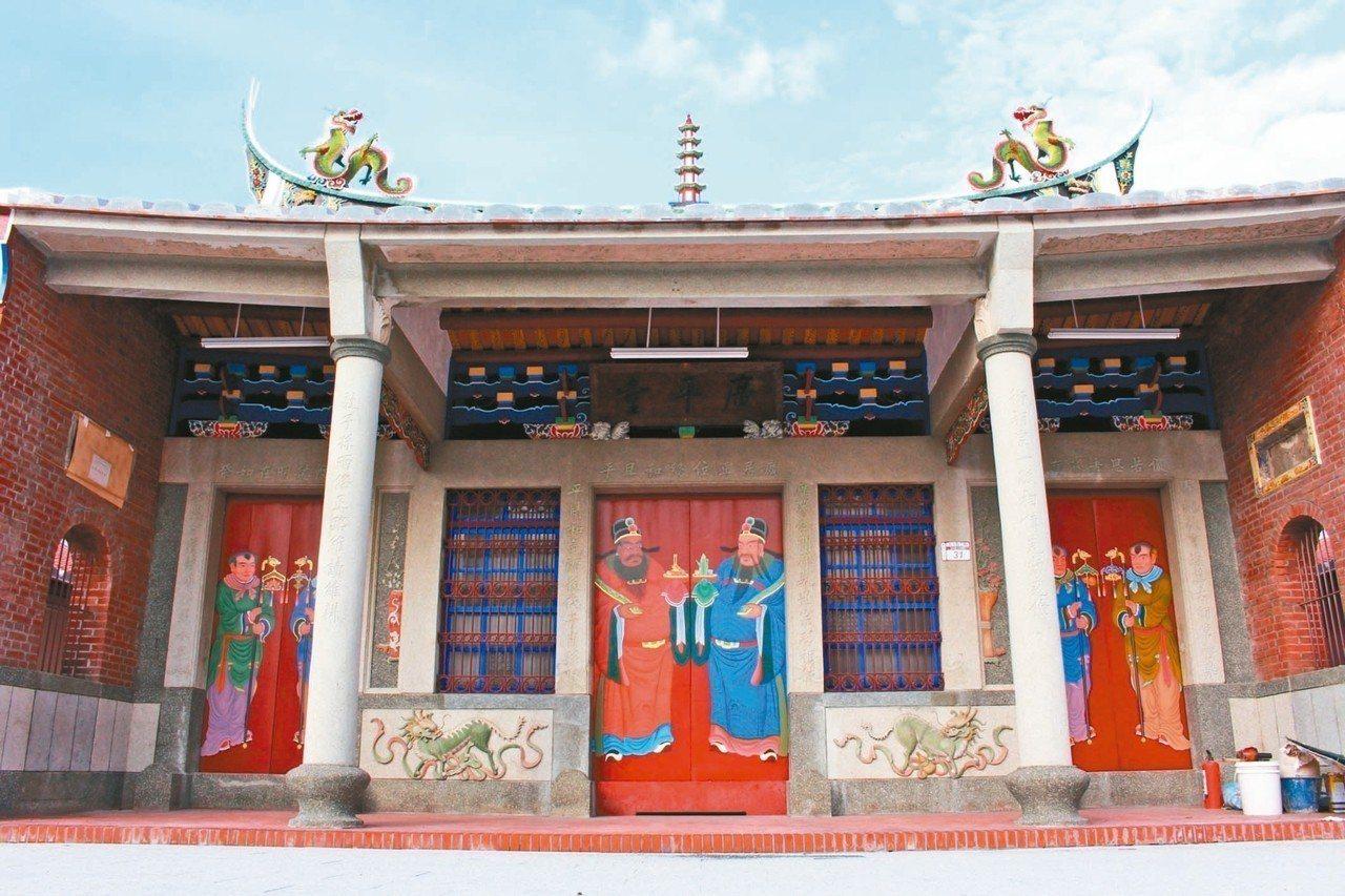 歷史建築的員林游氏宗祠,終於修復完成。圖/彰化文化局提供