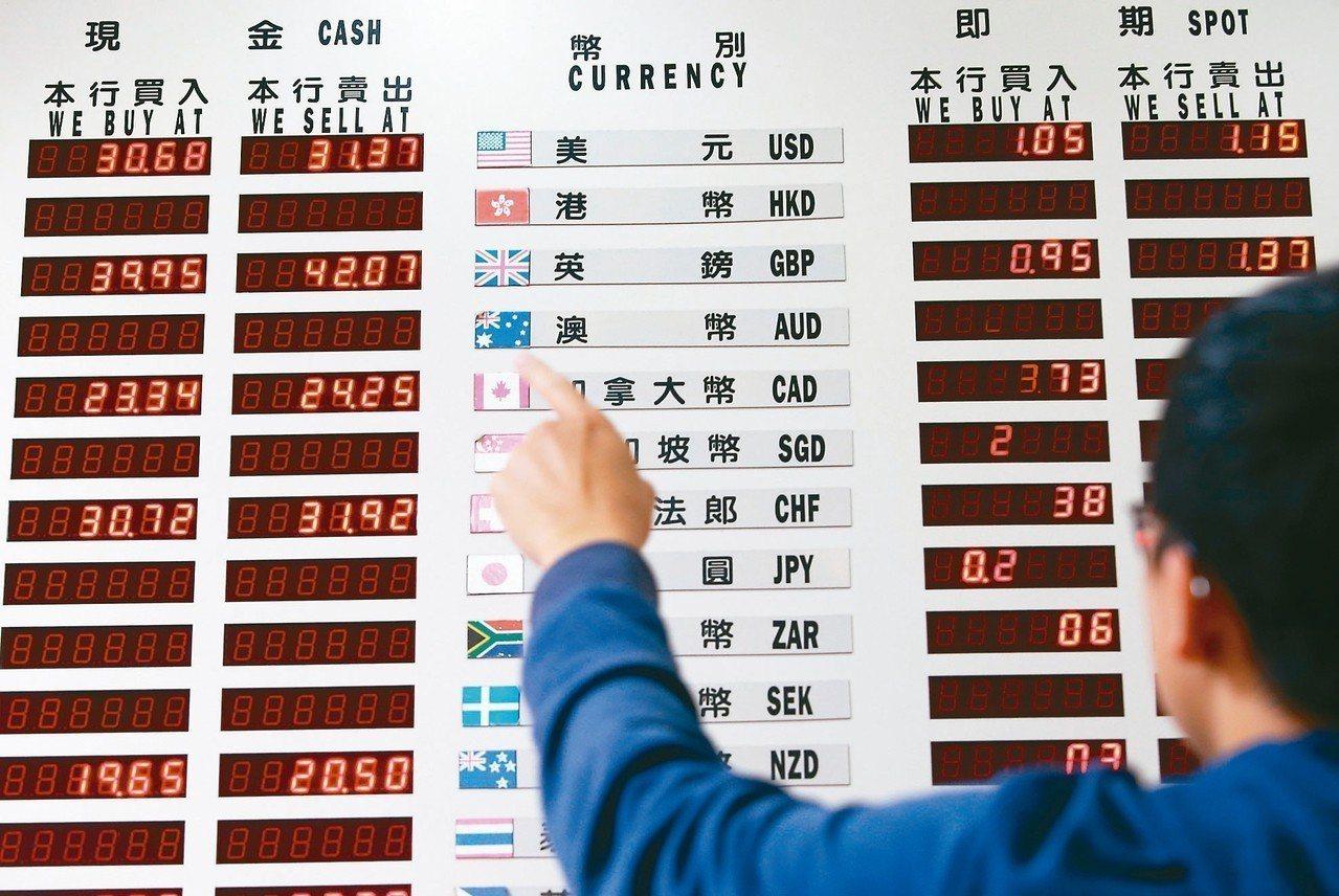 台股創下史上最大跌點,衝擊外匯市場,台幣兌美元昨天重貶1.37角,貶破31元關卡...