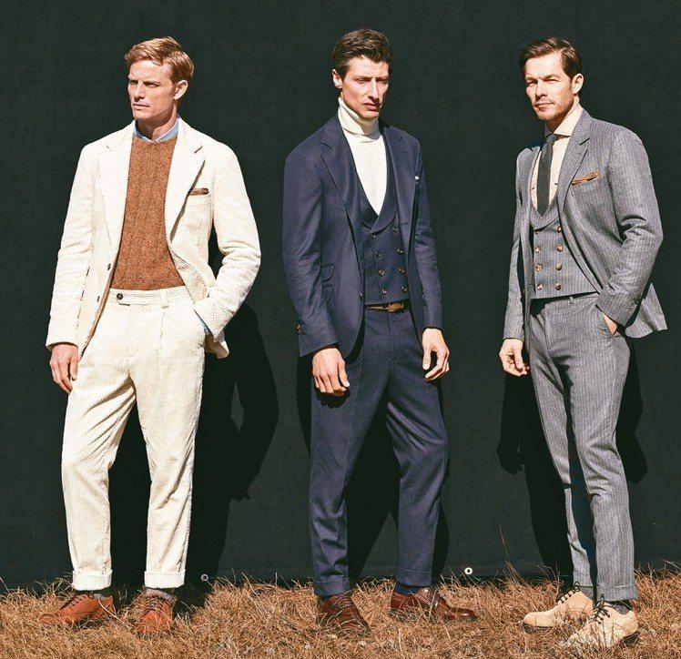 義大利style西裝風格特色在隨興的自在。圖/各品牌提供