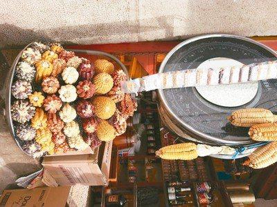 很懷念聖谷內有咬勁有味道的五彩玉米。圖/葉一南(「亞洲五十最佳餐廳」,香港「...