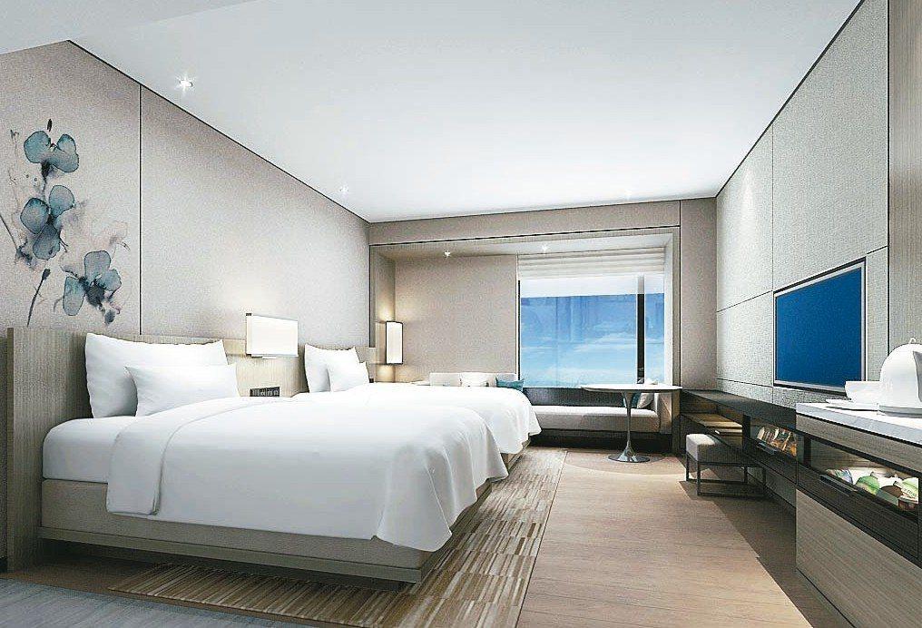 台北國泰萬怡酒店預計在今年第四季開幕。 國泰萬怡/提供