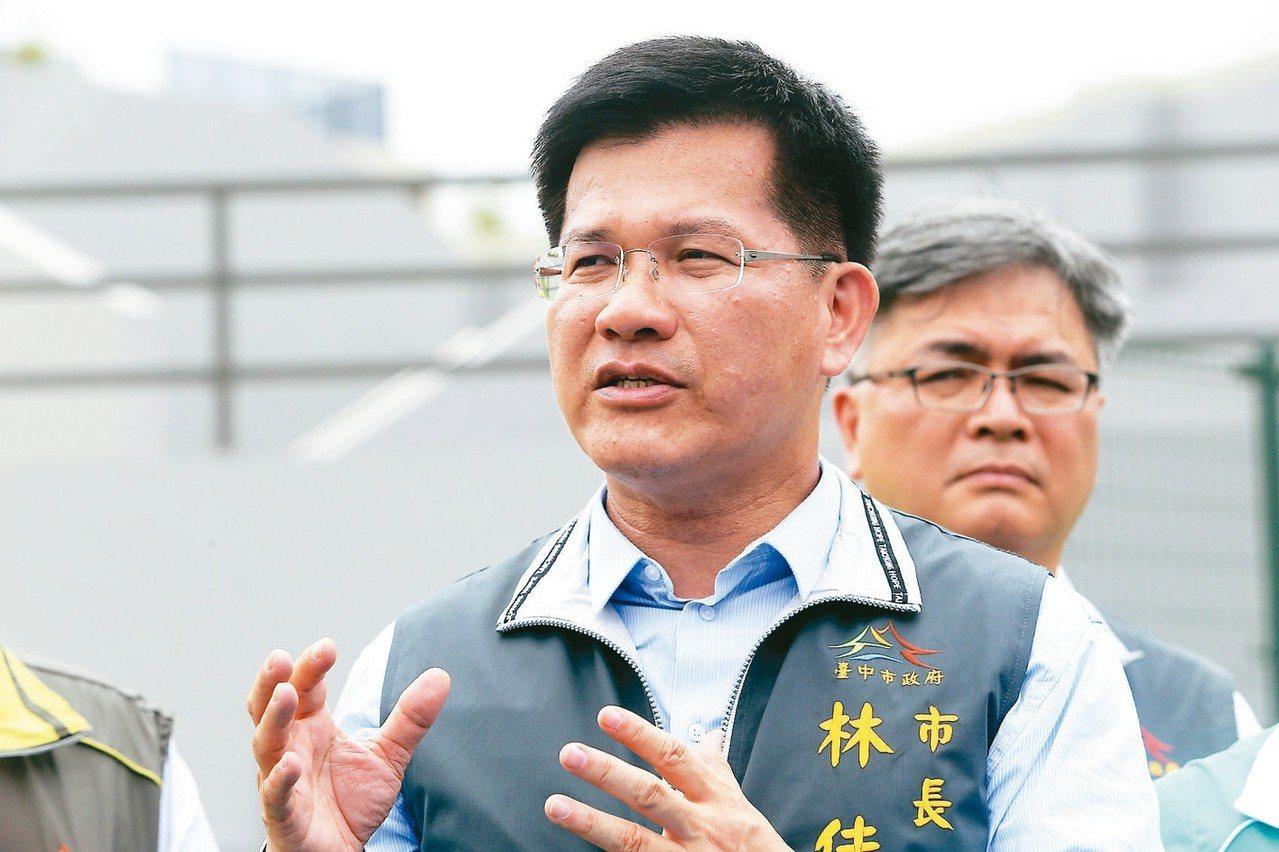 國民民調結果顯示,台中市民對市長林佳龍(見圖)施政表現表現,有38.6%滿意略高...
