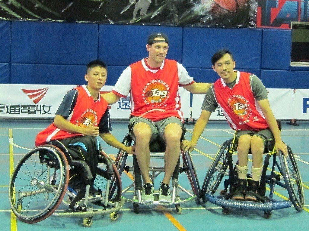 輪椅籃球好手蘇駿(左)。 聯合報系資料照片/記者曾思儒攝影