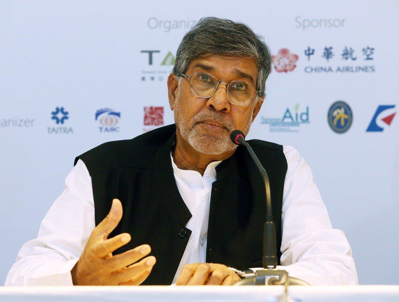 2014年諾貝爾和平獎得主沙提雅提(Kailash Satyarthi)。 中央...