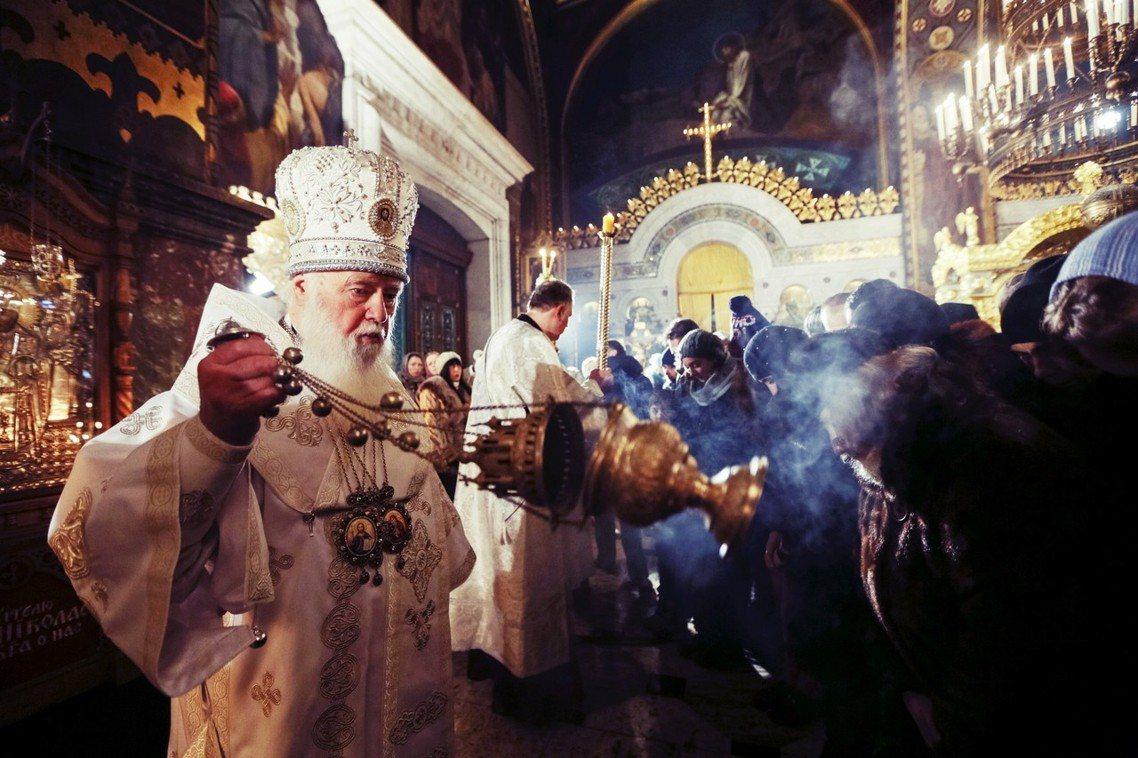 烏克蘭獨立派教會牧首菲拉列特。 圖/路透社