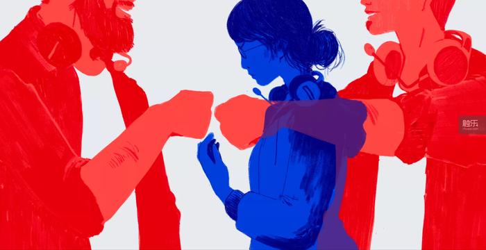 報導中提到,拳頭公司中的兩性地位並不平等(畫師:Chelsea Beck)