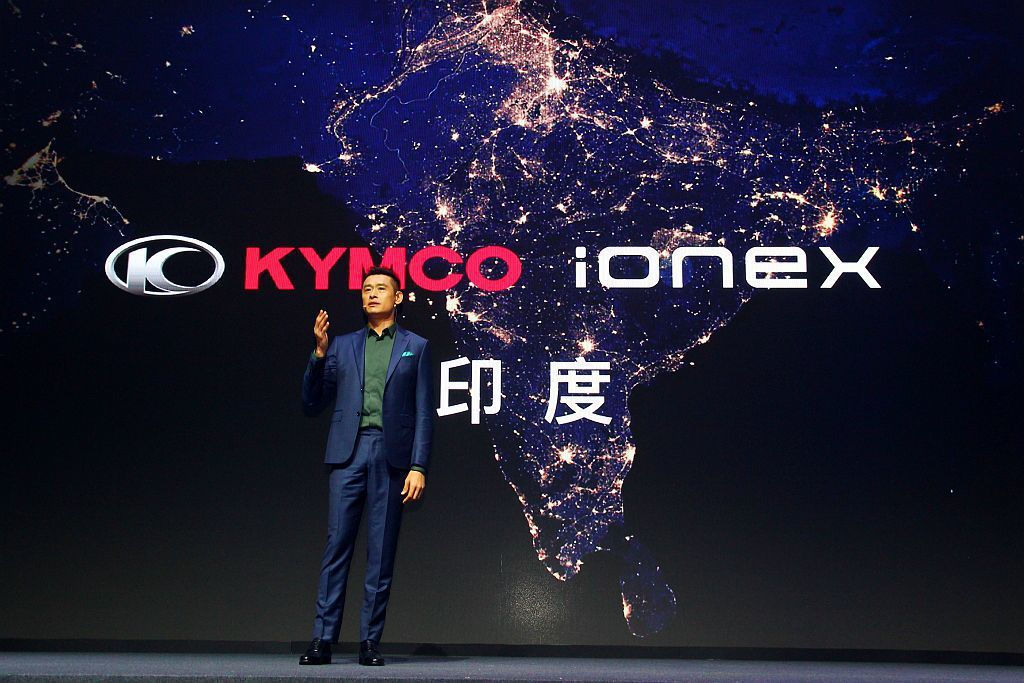 光陽機車更將在下週於印度首都新德里,正式宣佈進軍印度市場,加速拓展Ionex車能網的全球佈局。 記者張振群/攝影