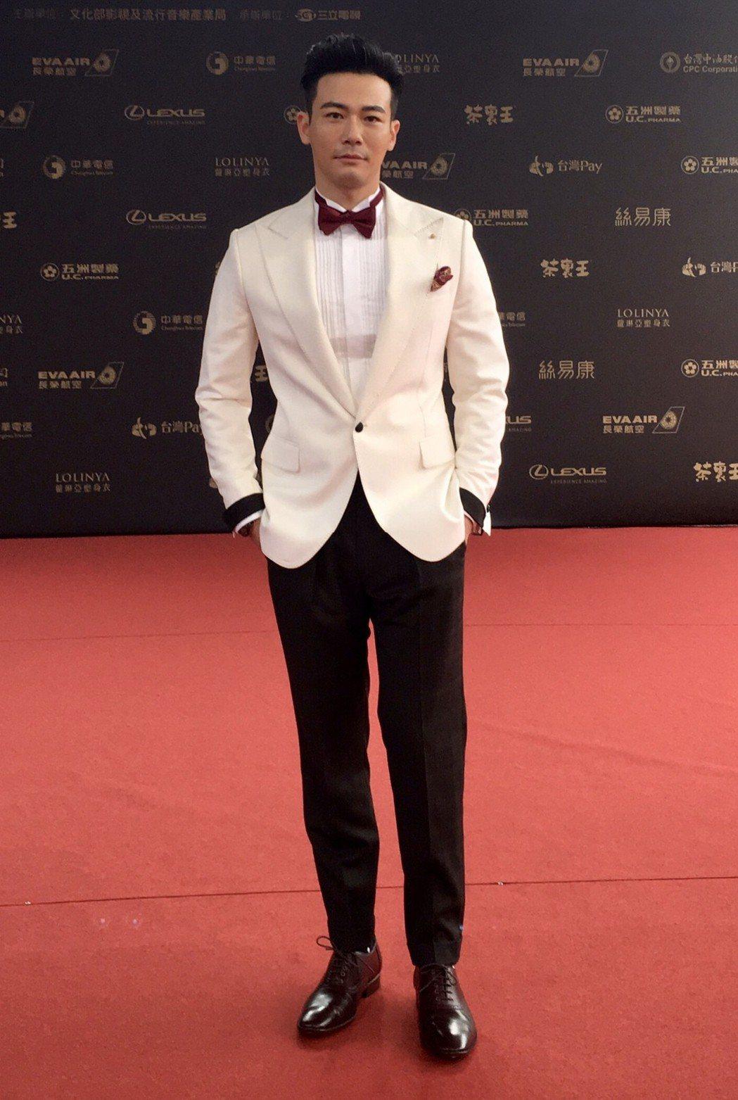 劉傑中在典禮紅毯表現口碑極佳。圖/艾迪昇提供