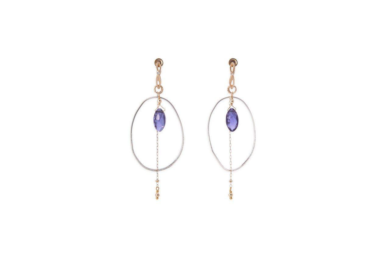 冬季限定耳周珠寶套組(紫),售價14,600元。圖/agete提供