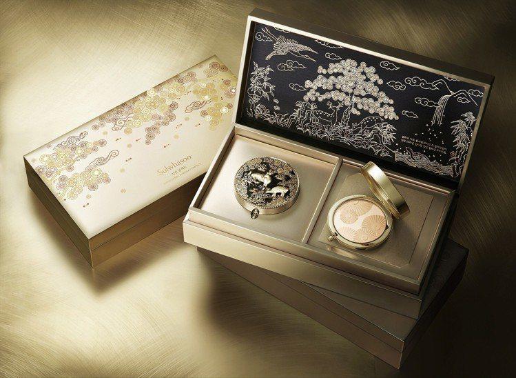 花釉香粧盒2018限量版,9g x 2售價5,350元。圖/雪花秀提供