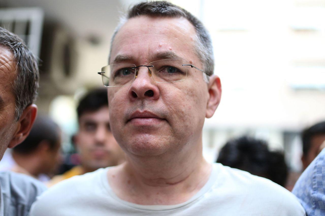 美國牧師布朗森12日獲土耳其政府釋放。(法新社)