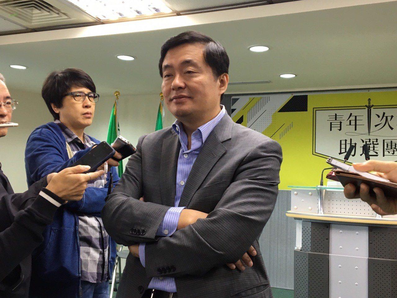 民進黨秘書長洪耀福。聯合報系記者周佑政/攝影