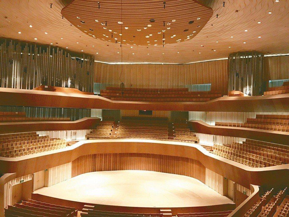衛武營國家藝術文化中心有台灣首座、全亞洲最大的「葡萄園式」觀眾席設計音樂廳。圖╱...