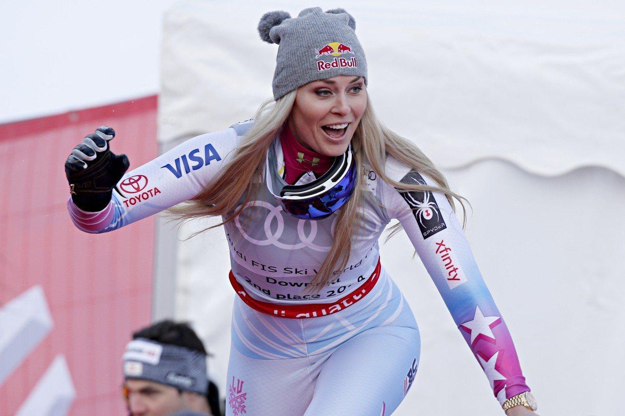 滑雪天后,馮恩確定本季後退休。 世界日報