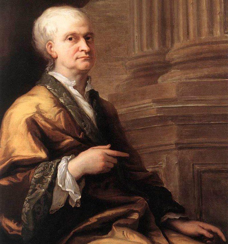 牛頓老年時期的肖像。圖擷自 維基百科