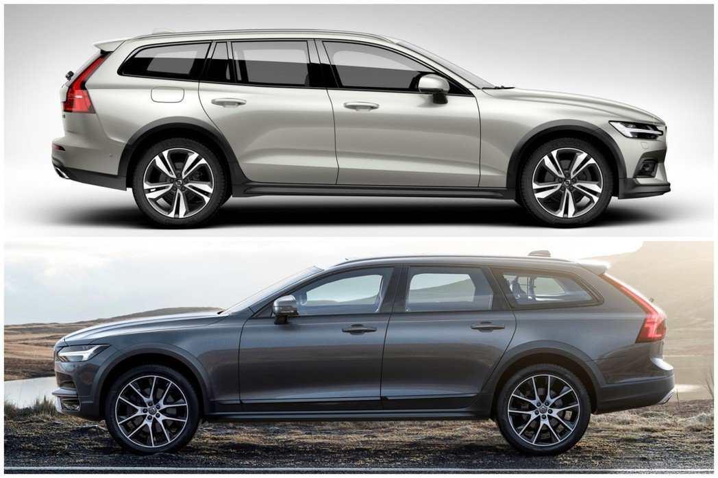 圖上為全新Volvo V60 Cross Country,圖下為Volvo V90 Cross Country。 摘自Volvo