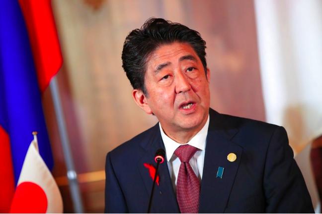 日本首相安倍晉三。圖/美聯社