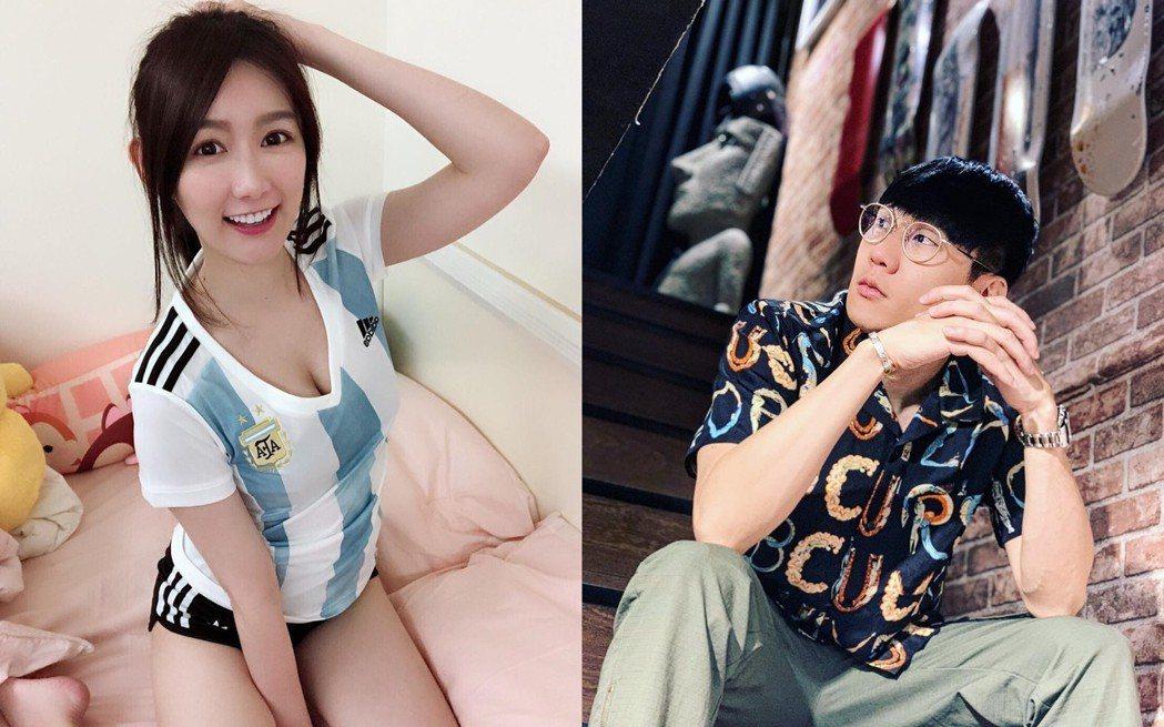 林俊傑(右)被爆和正妹主播「Mida聖媛」有曖昧情。圖/摘自IG