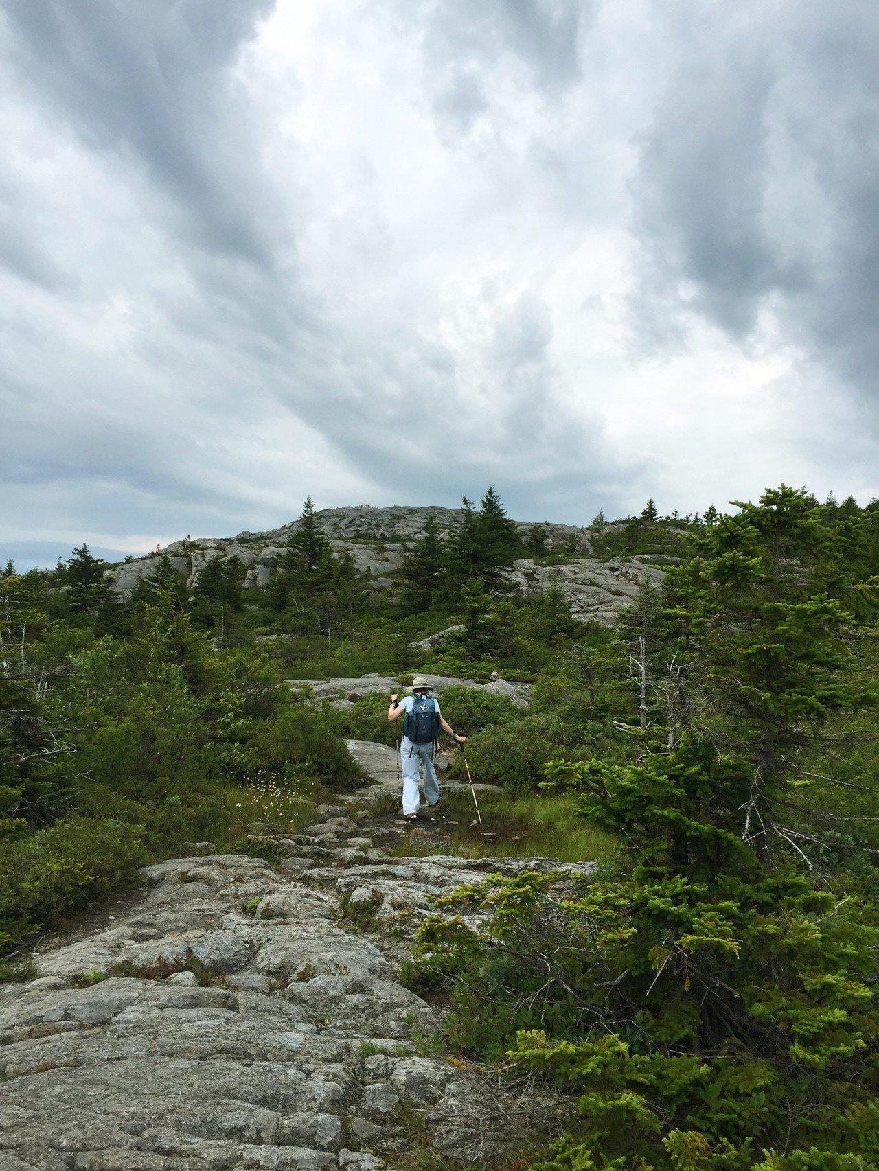 越來越多人選擇獨自上路,因為他們旅行時可自在做想做的事。圖為一名登山客攀爬美國蒙...