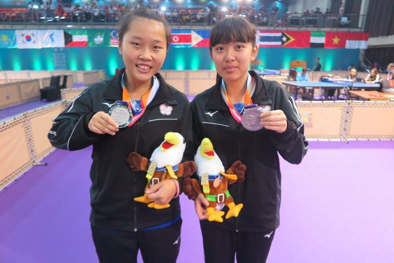 林姿妤(右)與田曉雯。記者毛琬婷/攝影