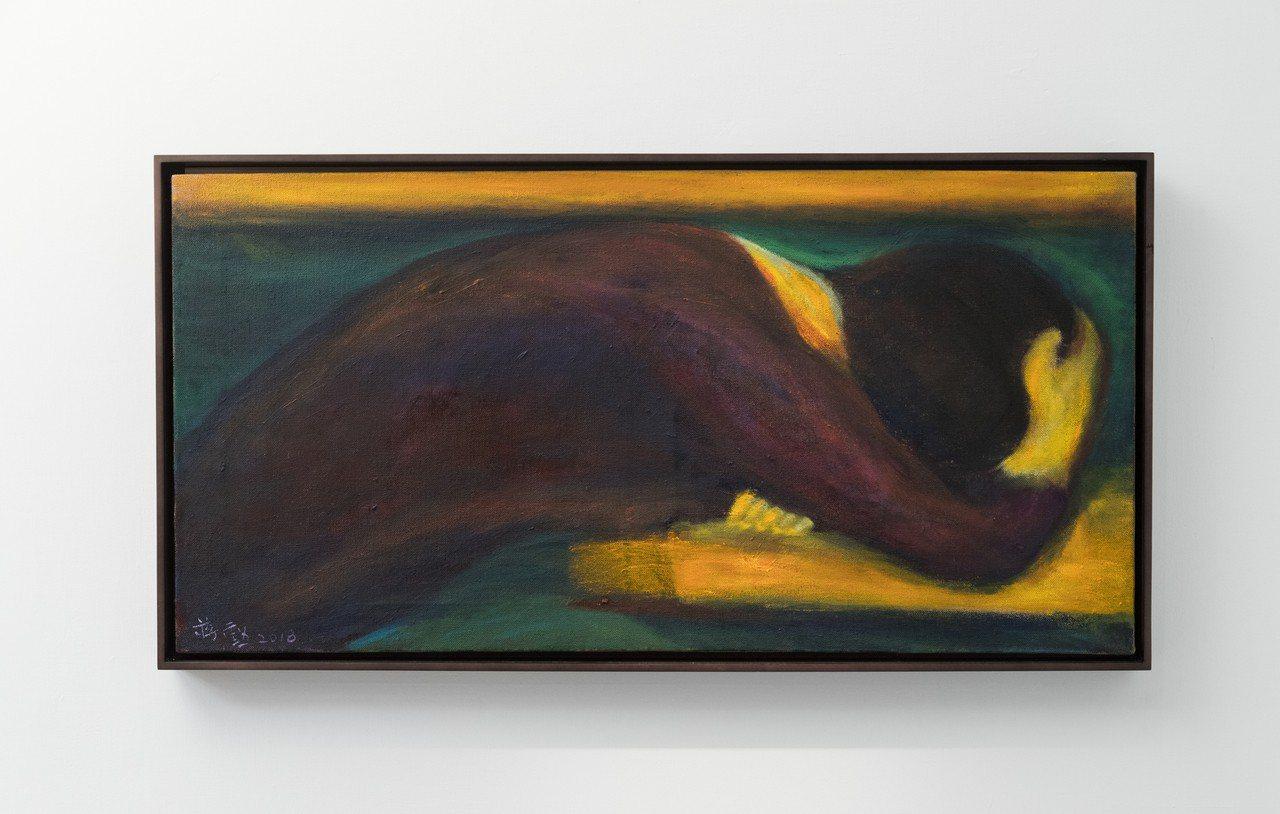 蔣勳展出多年來的油畫、水墨、書法等作品。記者陳立凱/攝影