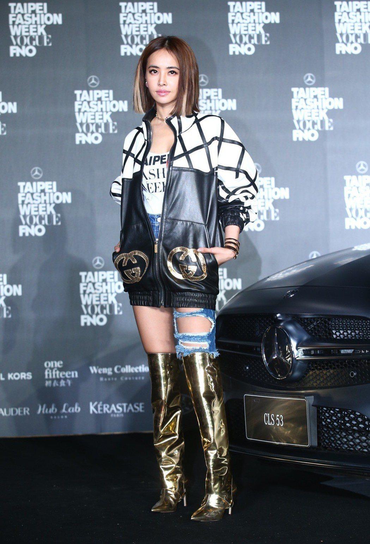 蔡依林表示私下最喜歡牛仔風的打扮。記者王騰毅/攝影