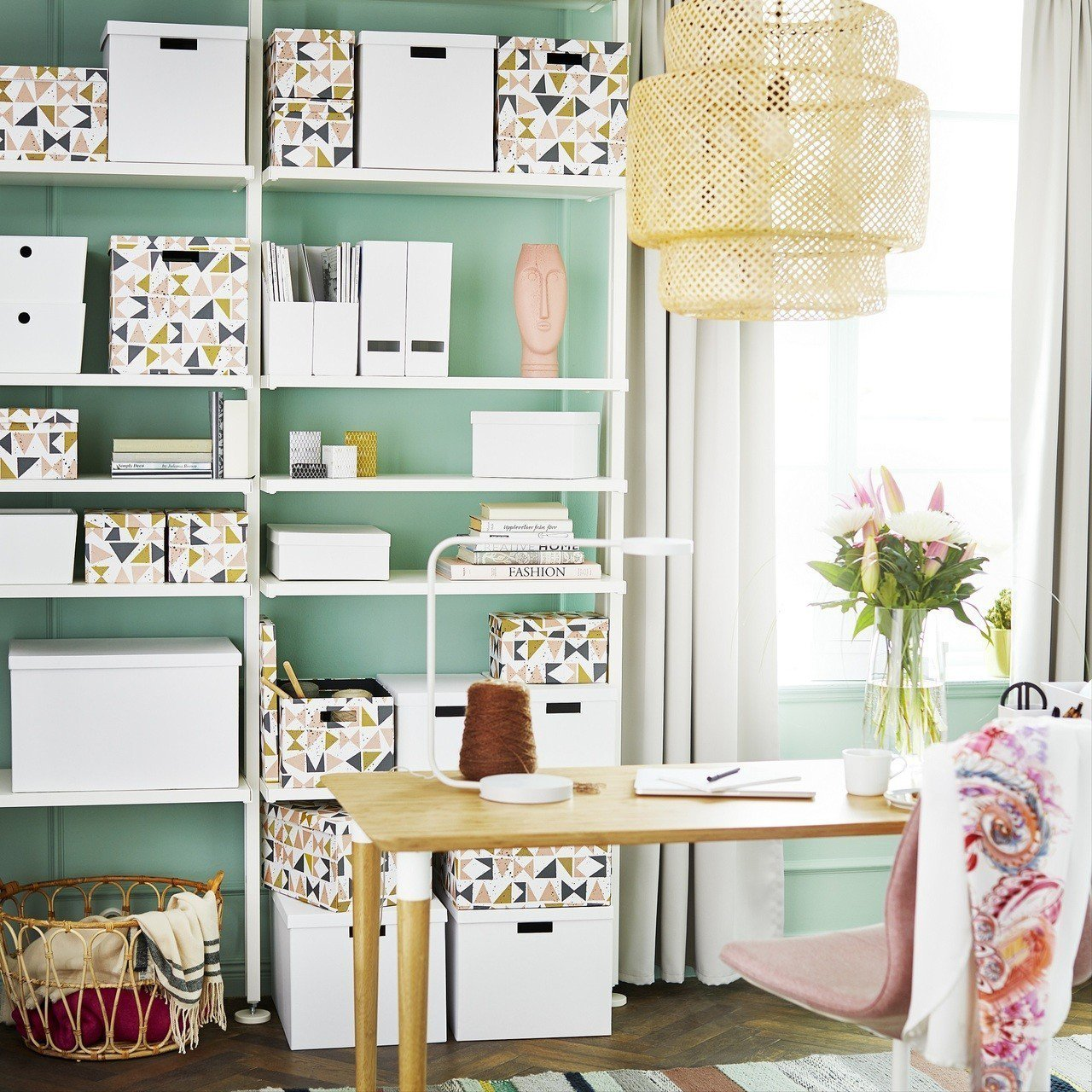 TJENA附蓋收納盒,售價79元。圖/IKEA提供
