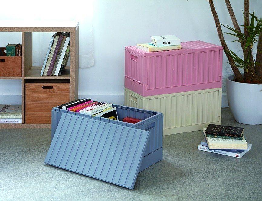 HOLA掀蓋摺疊貨櫃箱系列,原價799元,特價699元。圖/HOLA提供