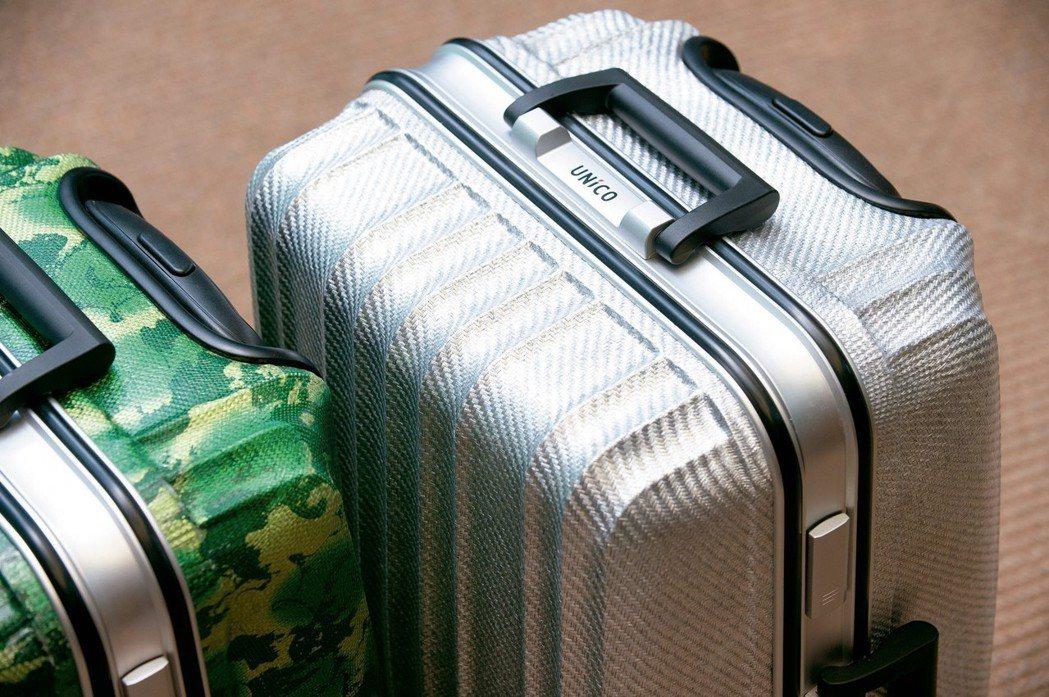 工研院研發出可100%回收的熱塑性碳纖維複合材料,技轉廠商製成質輕堅固的行李箱,...