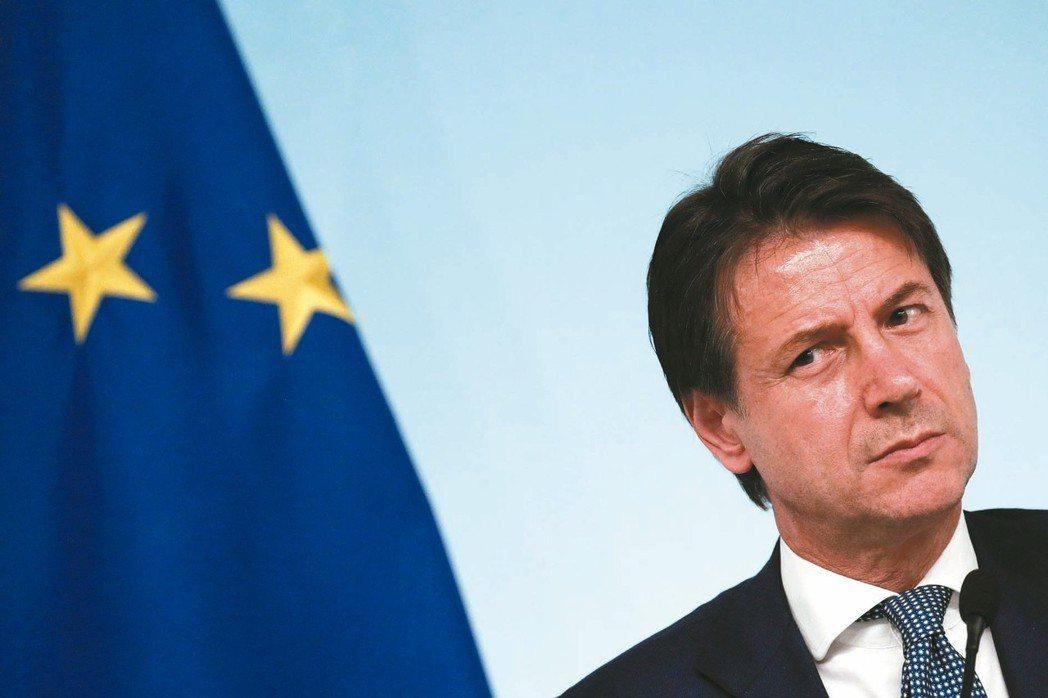 義國將向歐盟提交預算案,圖為義國總理孔蒂。 路透