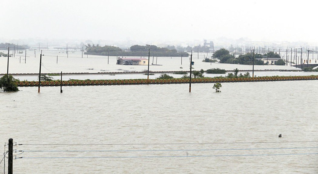 受到極端強降雨影響,823水患釀成中南部巨大災情。 報系資料照
