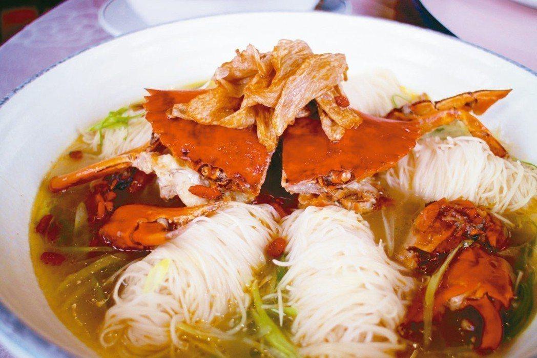 茶油紅蟳麵線 記者吳姿賢/攝影