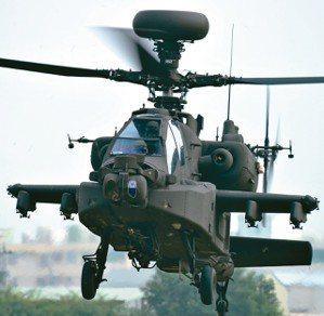 阿帕契攻擊直升機被揭露明年要編9億餘元預算送美回修,陸軍另在機隊的作業維持費中,...