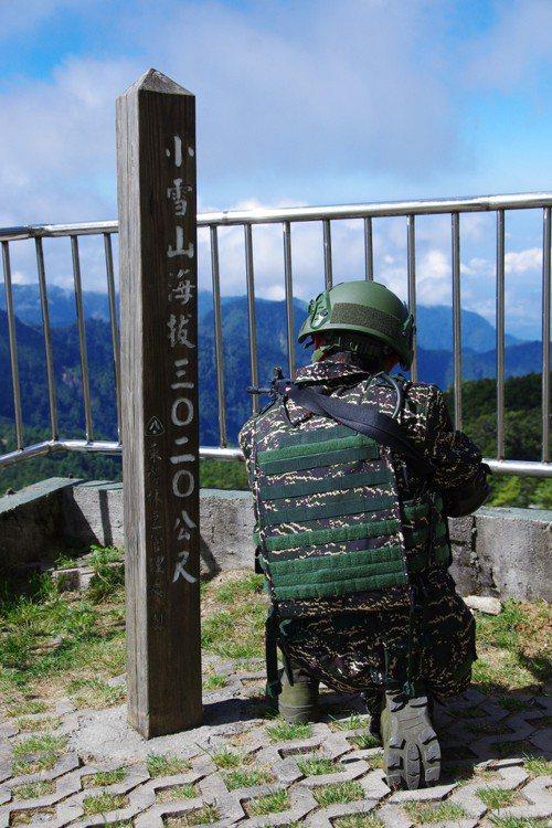 駐守的雷達站的陸戰隊士兵。記者程嘉文/攝影